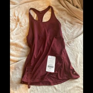Cinched workout tank